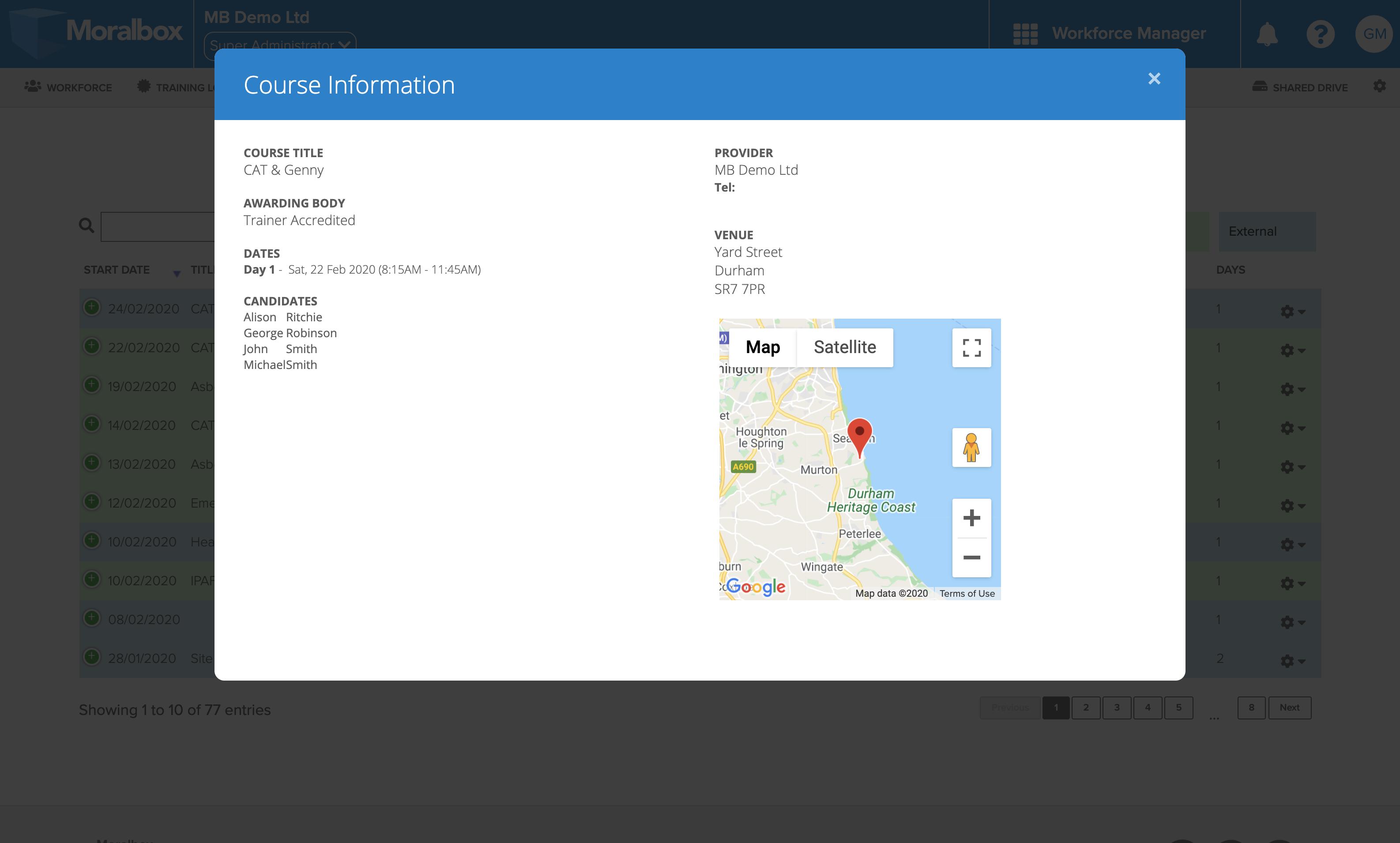 Schedules screenshot